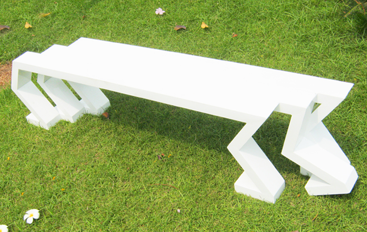 Aluminium furniture Robot bench