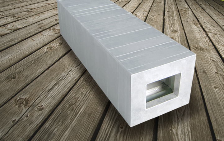 Aluminium furniture Box bench